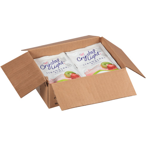 CRYSTAL LIGHT Sugar Free Strawberry Kiwi Powdered Beverage Mix, 1.9 oz. Pouch (Pack of 12)