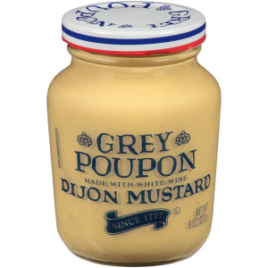 GREY POUPON Dijon Mustard, 8 oz. Jars (Pack of 12) image