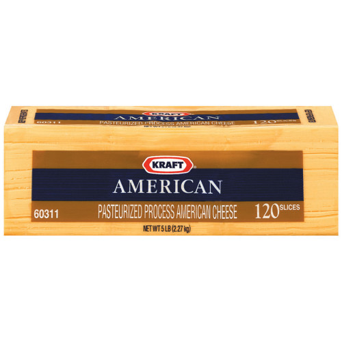 KRAFT American Sliced Cheese (120 Slices), 5 lb. (Pack of 4)