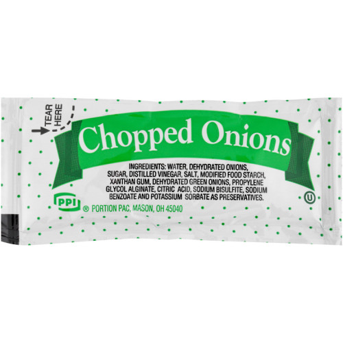 PPI Single Serve Chopped Onion, 9 gr. Packets (Pack of 200)