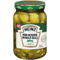 Heinz Premium Kosher Baby Dill Pickles, 12 - 16 fl oz Jars image