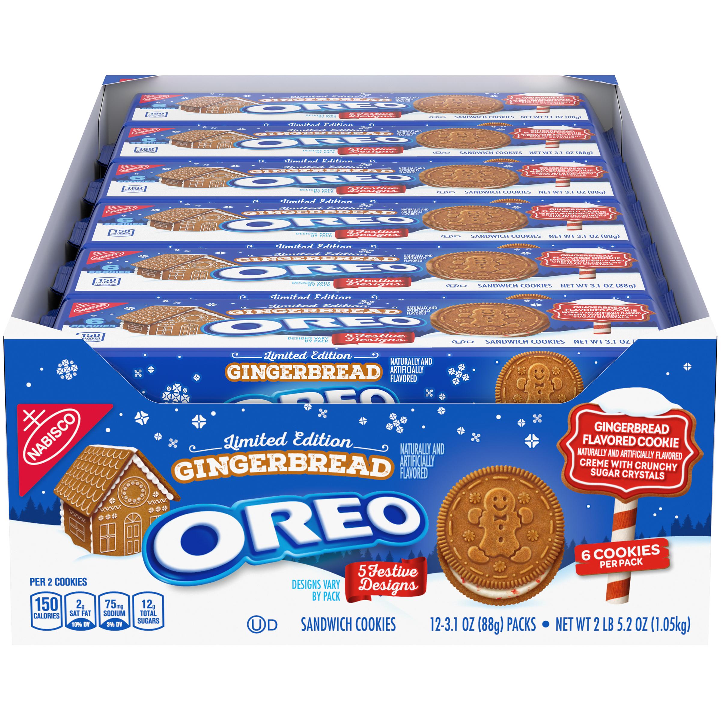 OREO Gingerbread Cookies-Single Serve 37.2 Oz
