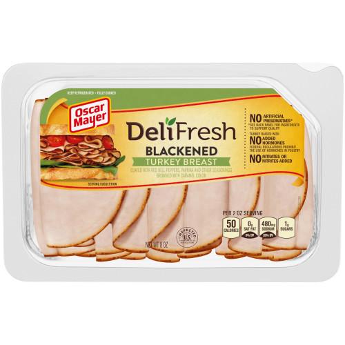 Oscar Mayer Deli Fresh Blackened Turkey Breast Tray, 8 oz