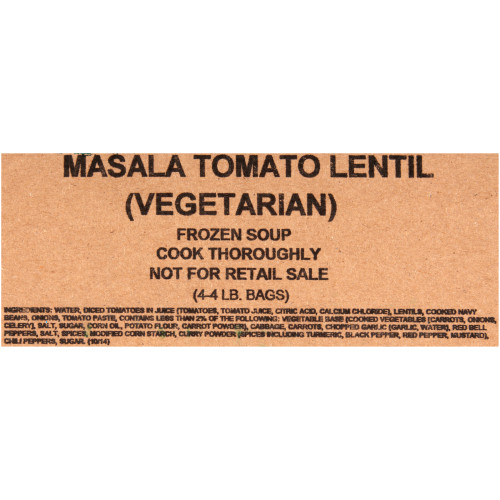 HEINZ TRUESOUPS Masala Tomato Lentil Soup, 4 lb. Bag (Pack of 4)