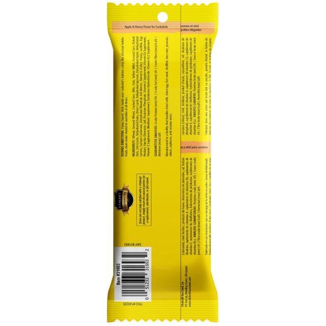 Back-Image showing Crunch Sticks Apple & Honey Flavor