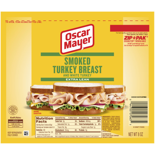 OSCAR MAYER Smoked Turkey breast 8 oz Pack