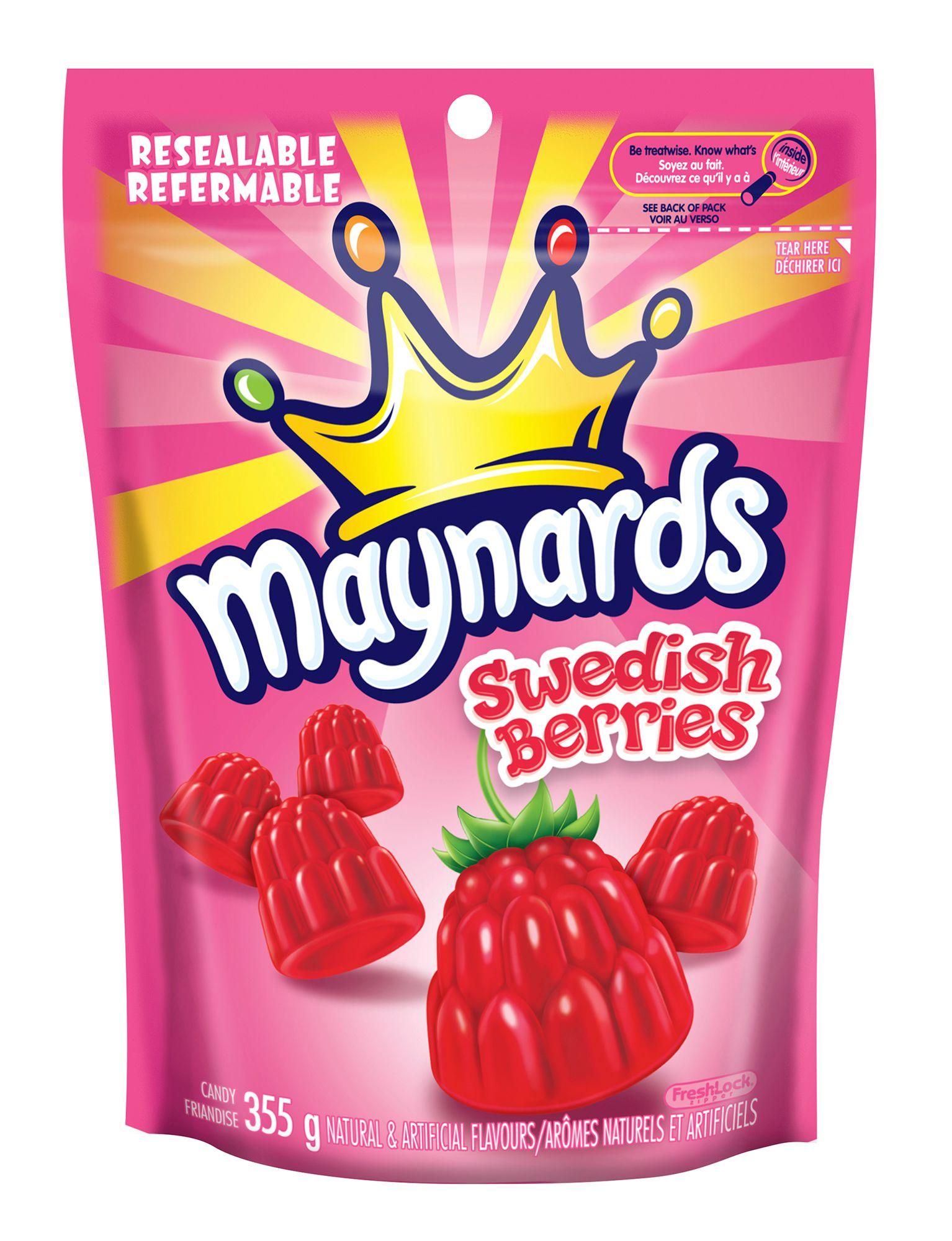 Maynards Swedish Berries Berry Soft Candy 355 G
