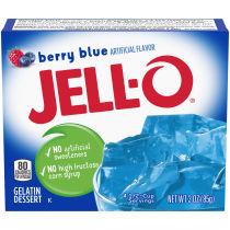 Jell-O Berry Blue Gelatin Mix 3 oz Box