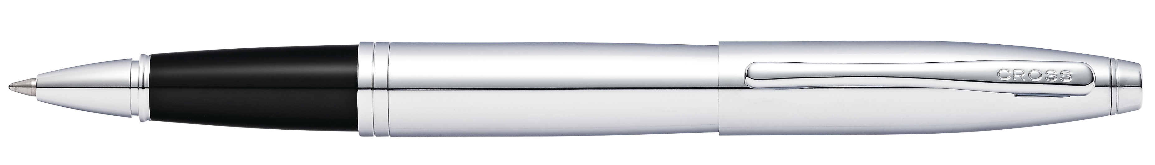 Calais Polished Chrome Rollerball Pen - self-server packaging