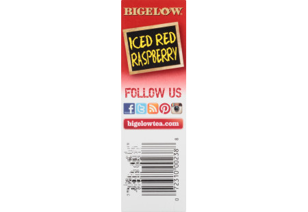 Red Raspberry Herbal Iced Tea - Case of 6 boxes - total of 48 teabags