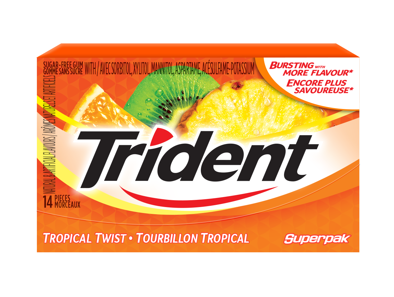 Trident Tropical Twist Gum 14 Count