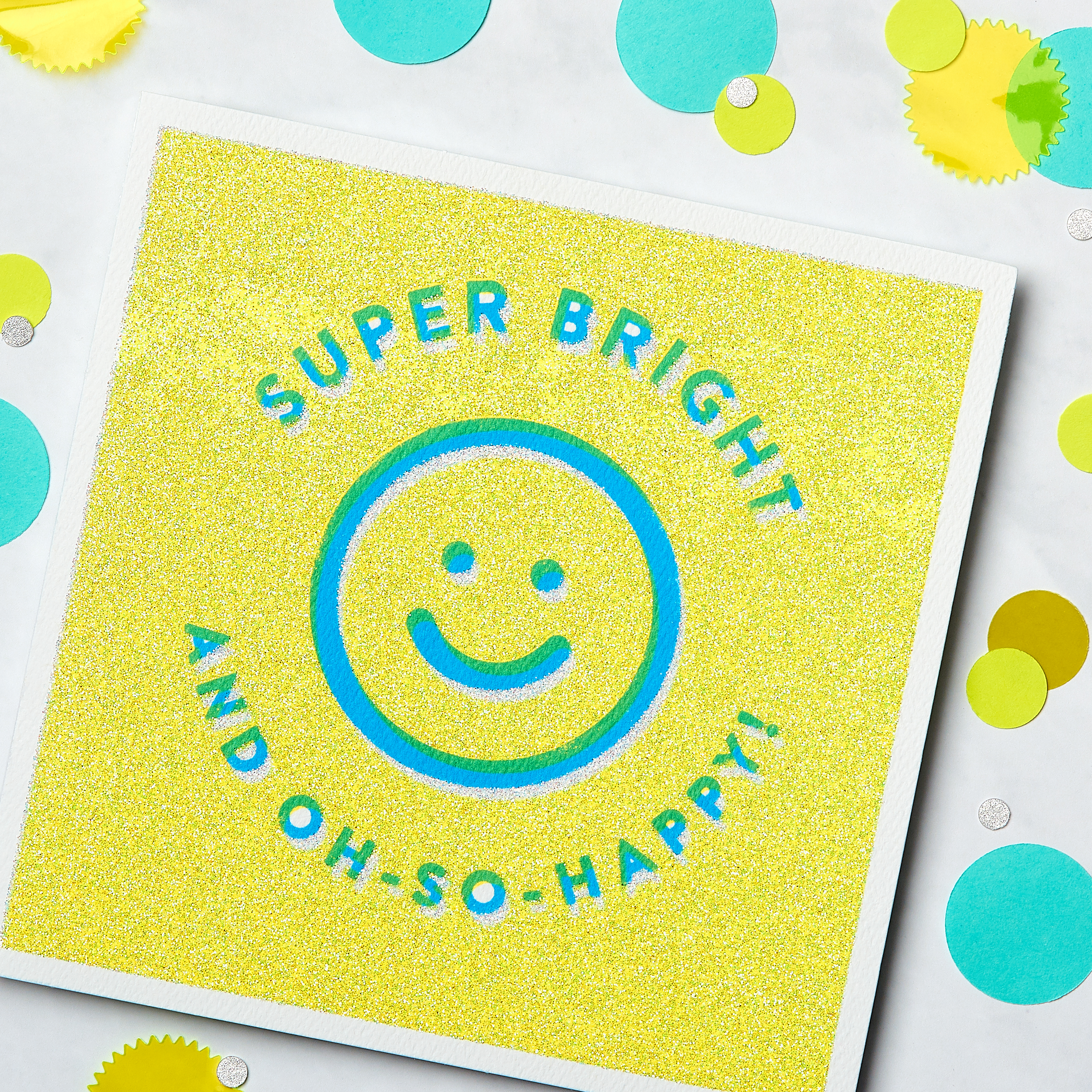 Super Bright Greeting Card for Kids - Birthday, Thinking of You, Encouragement, Friendship image