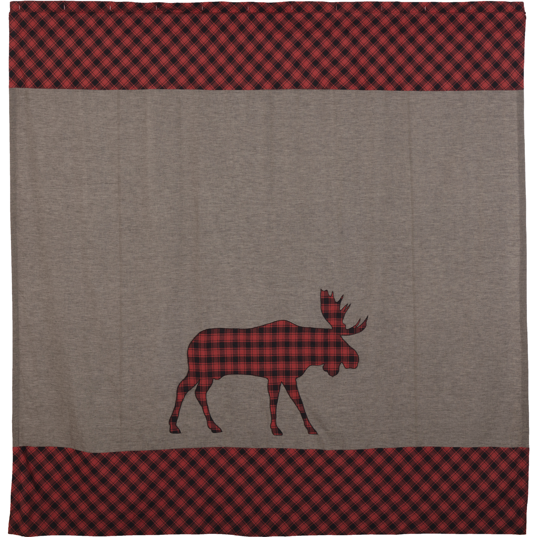 Cumberland Moose Applique Shower Curtain 72x72