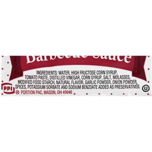 PPI Single Serve Barbecue Sauce, 12 gr. Sachets (Pack of 200)