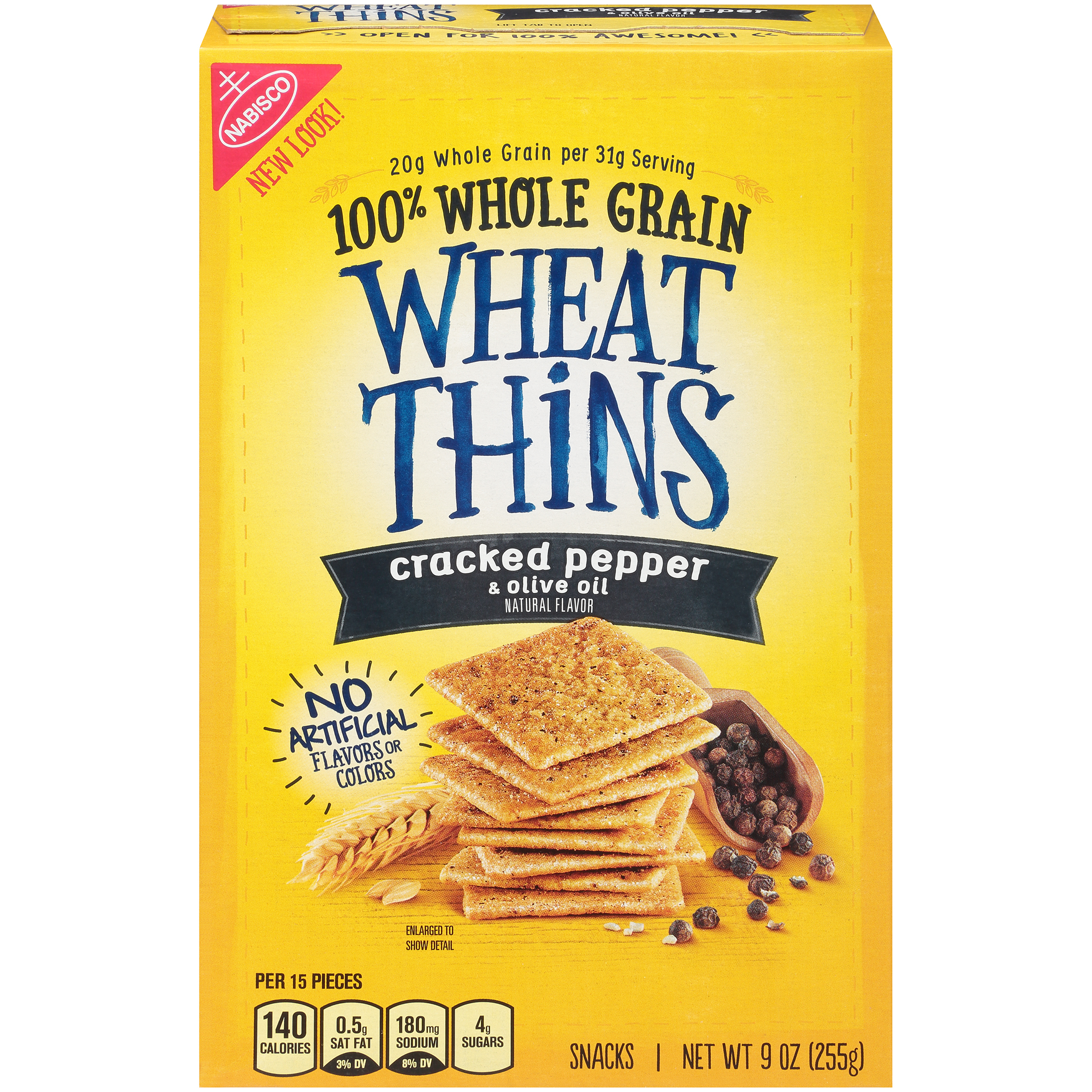 WHEAT THINS Cracked Pepper And Olive Oil Crackers 9 oz