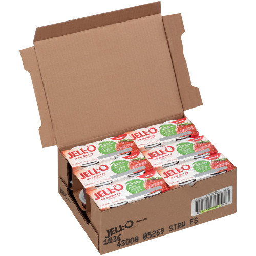 JELL-O Strawberry Gelatin, 3.3 oz. Cups (4/6 Count)