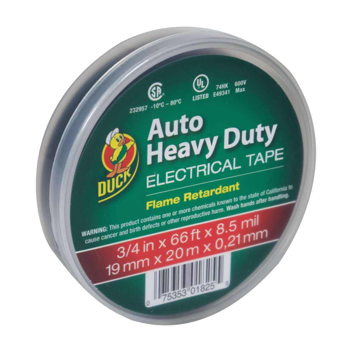 Duck® Brand Heavy Duty Auto Electrical Tape - Black, .75 in. x 66 ft. x 8.5 mil. Image