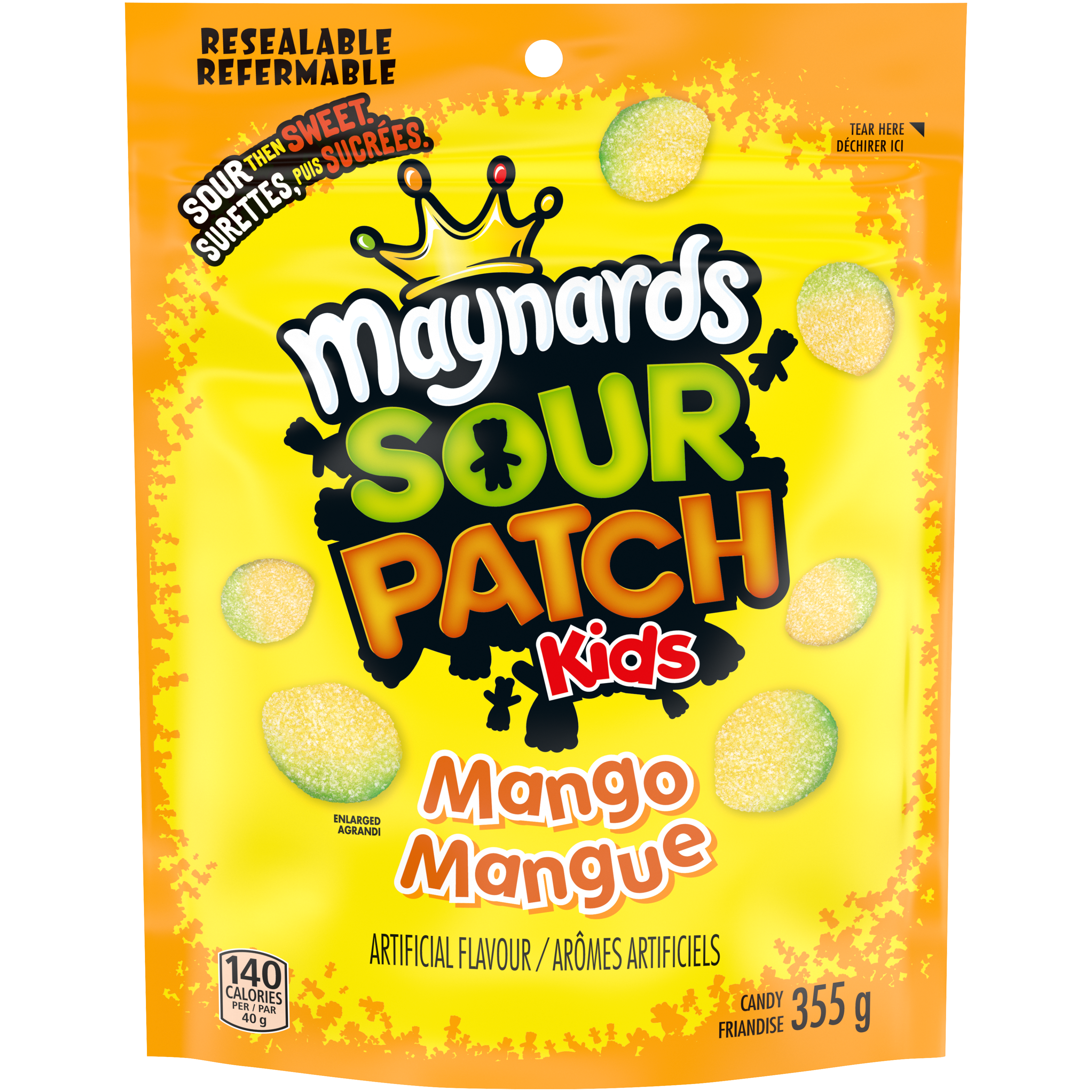 Maynards Sour Patch Kids Mangue Friandise Molle 355 G