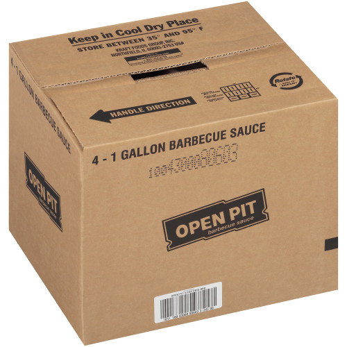 OPEN PIT Original BBQ Sauce, 1 gal. Jugs (Pack of 4)