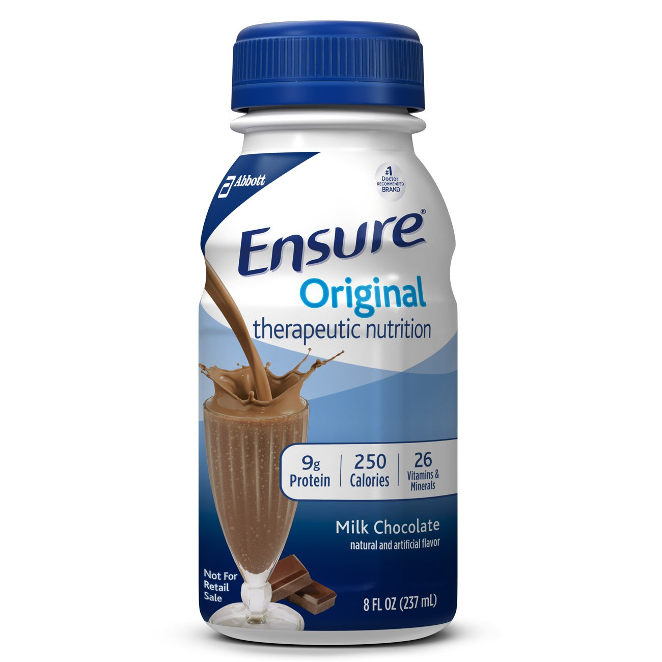 Ensure Original Chocolate Flavor 8 oz. Bottle Ready to Use, 58293 - EACH
