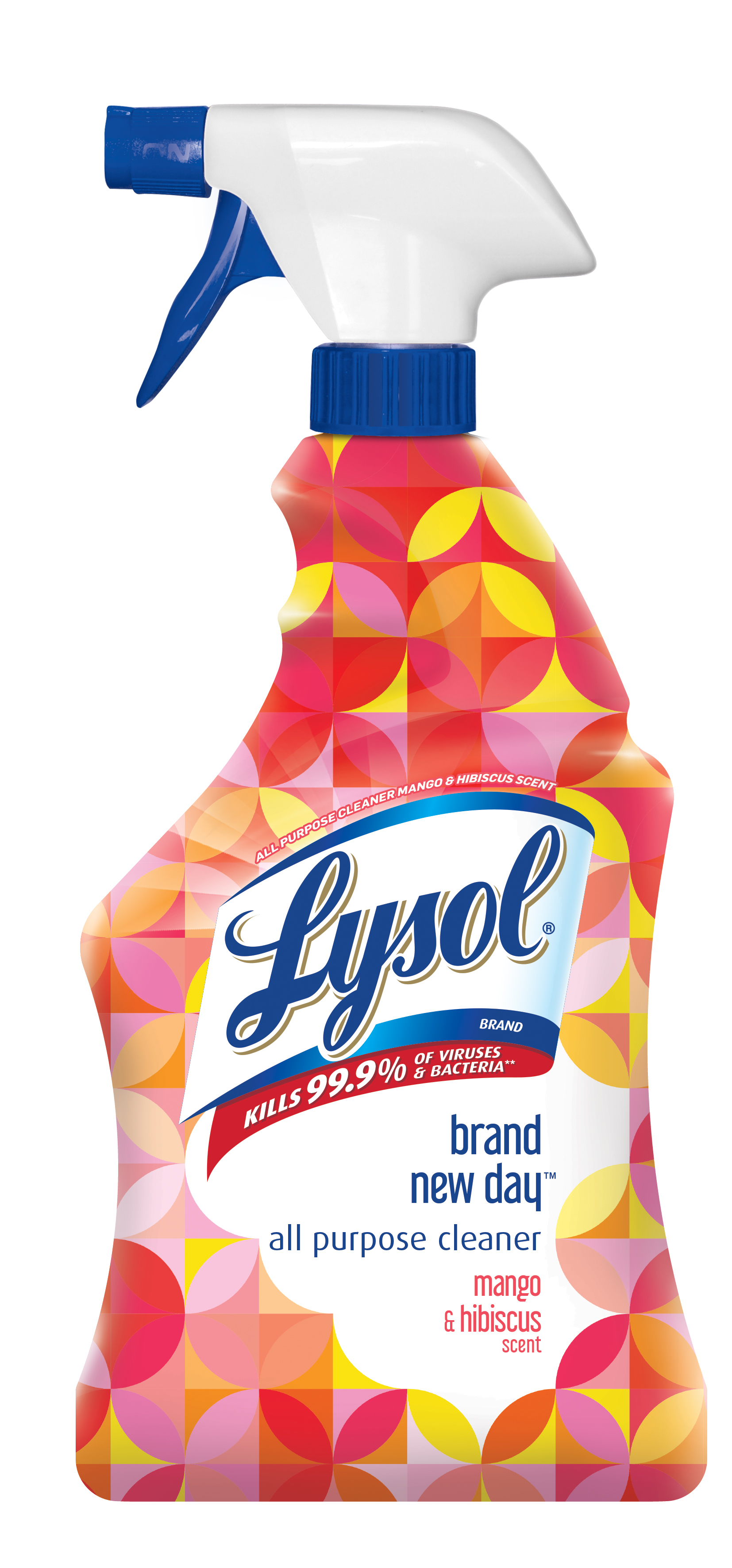 Lysol All Purpose Cleaner Trigger, Brand New Day, Mango & Hibiscus, 22oz