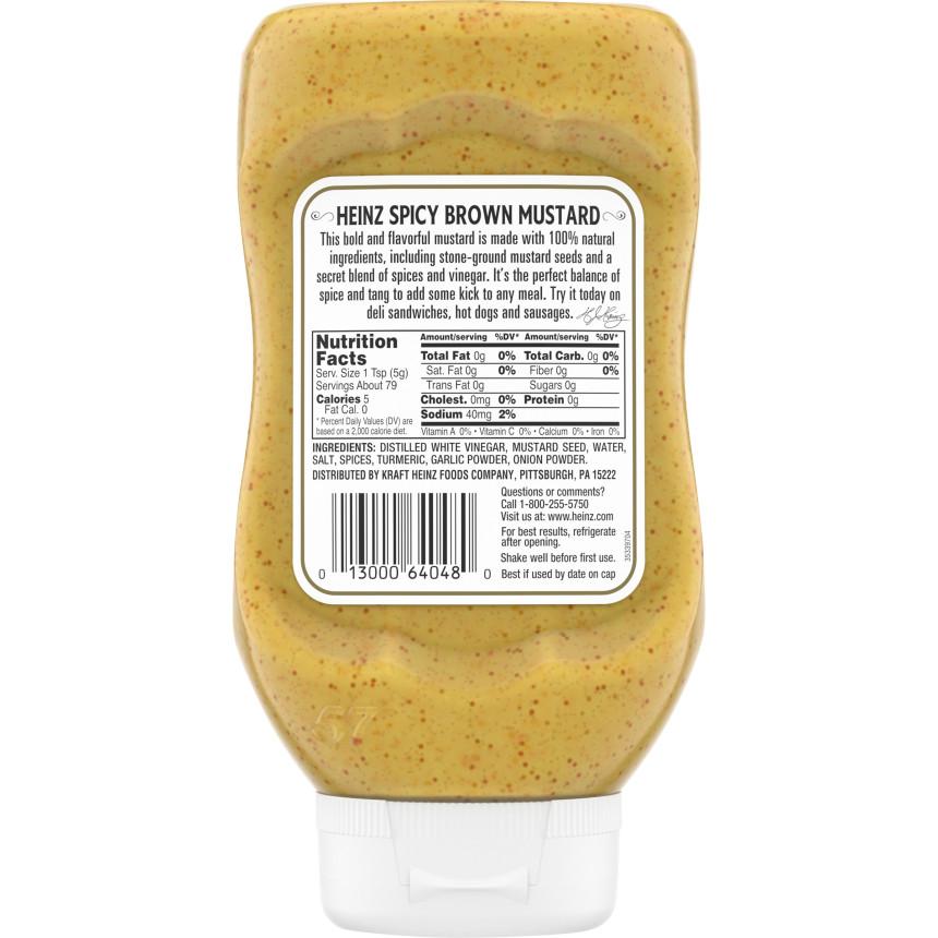 Heinz Spicy Brown Mustard 14 oz. Bottle