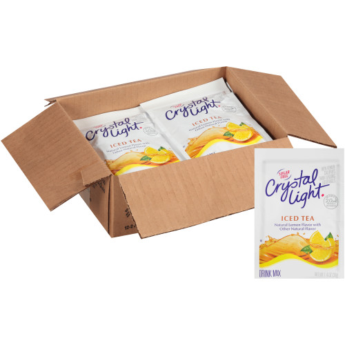 CRYSTAL LIGHT Sugar Free Iced Tea Powdered Beverage Mix, 1.4 oz. Pouch (Pack of 12)