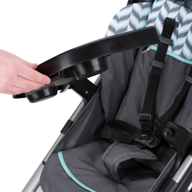Vive™ Travel System with Embrace Infant Car Seat (Spearmint Spree) Lifestyle Photo
