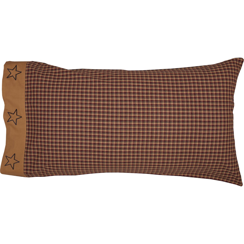 Patriotic Patch King Pillow Case Set of 2 21x40