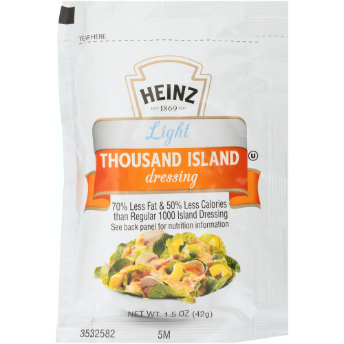 HEINZ Light Thousand Island Dressing, 1.5oz Packets (Pack of 60)