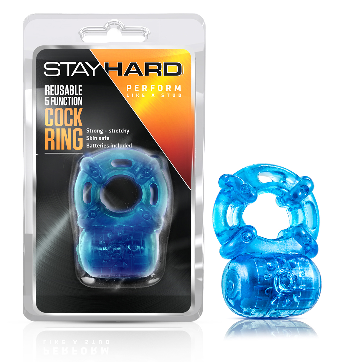 Stay Hard - Reusable 5 Function Cockring - Blue