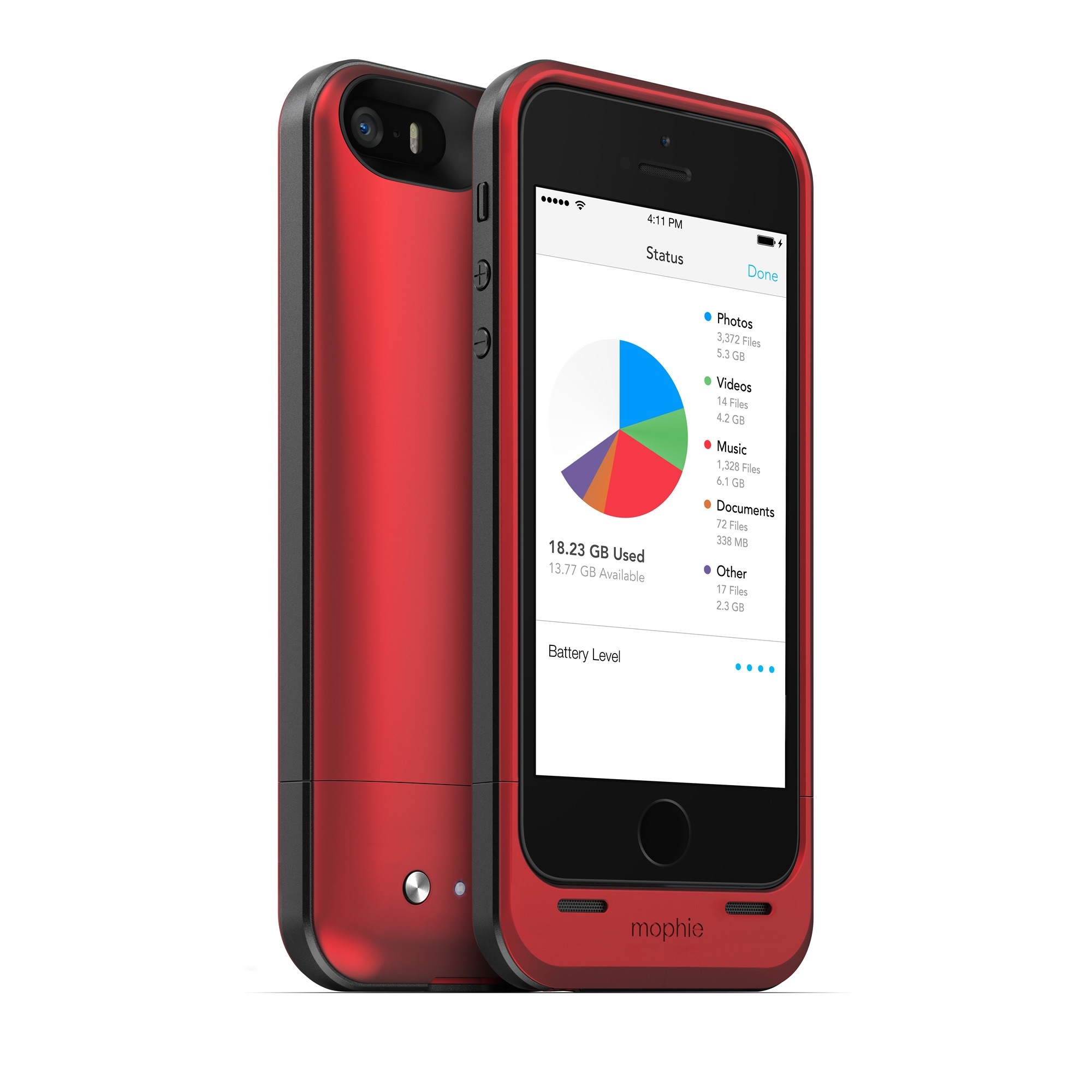 mophie spacepack battery case w built in 32gb storage for iphone 5 5s se new ebay. Black Bedroom Furniture Sets. Home Design Ideas
