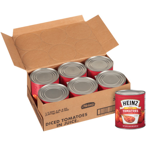 HEINZ Diced Tomato in Juice, 102 oz. Can (Pack of 6)