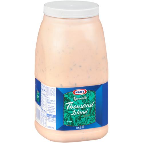 KRAFT Bulk Thousand Island Salad Dressing, 1 gal. Jug (Pack of 4)