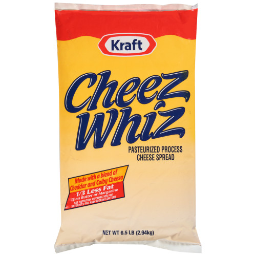 CHEEZ WHIZ Spread Pouch, 6.5 lbs. (Pack of 6)