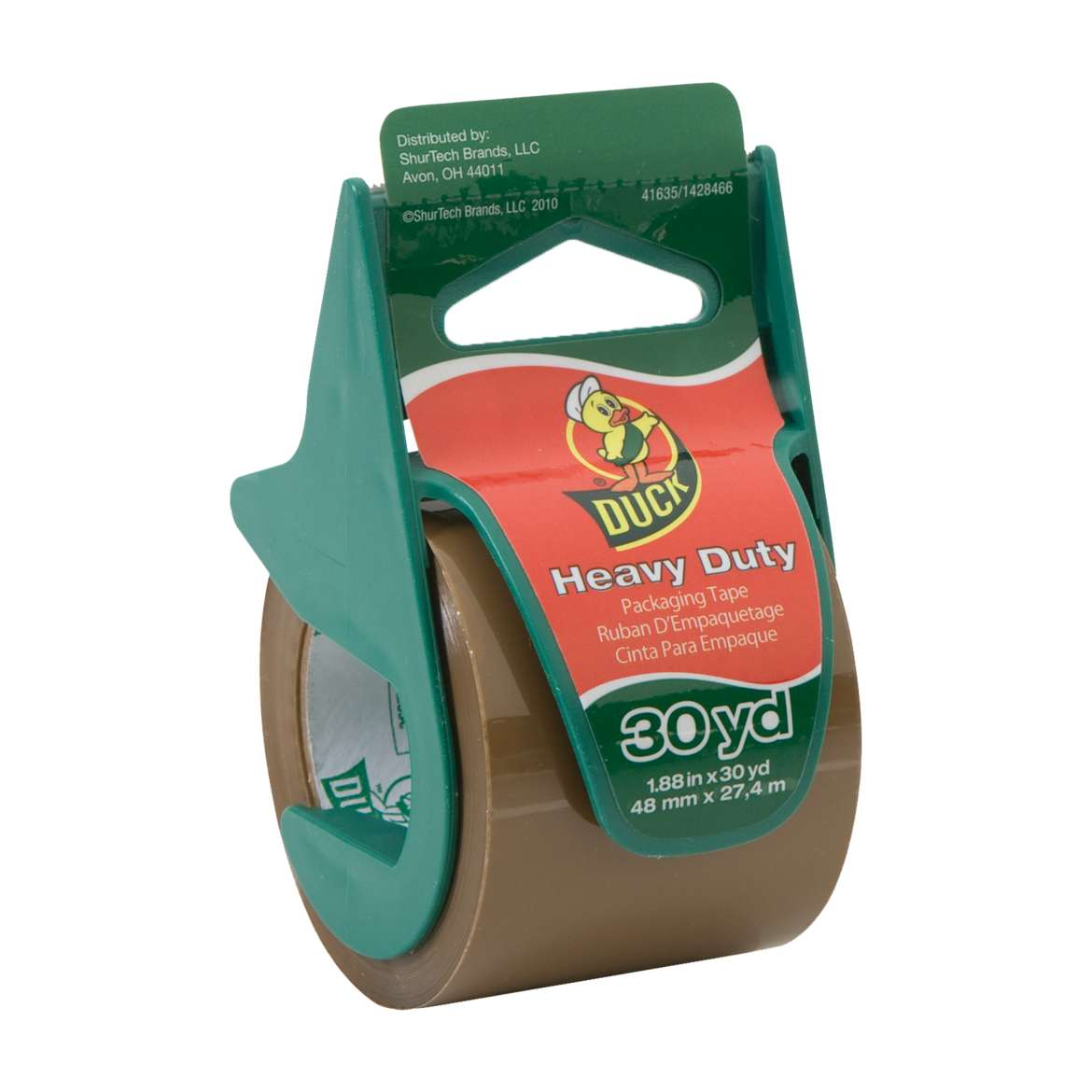 Duck® Brand Heavy Duty Packaging Tape with Dispenser - Tan, 1.88 in. x 30 yd. Image