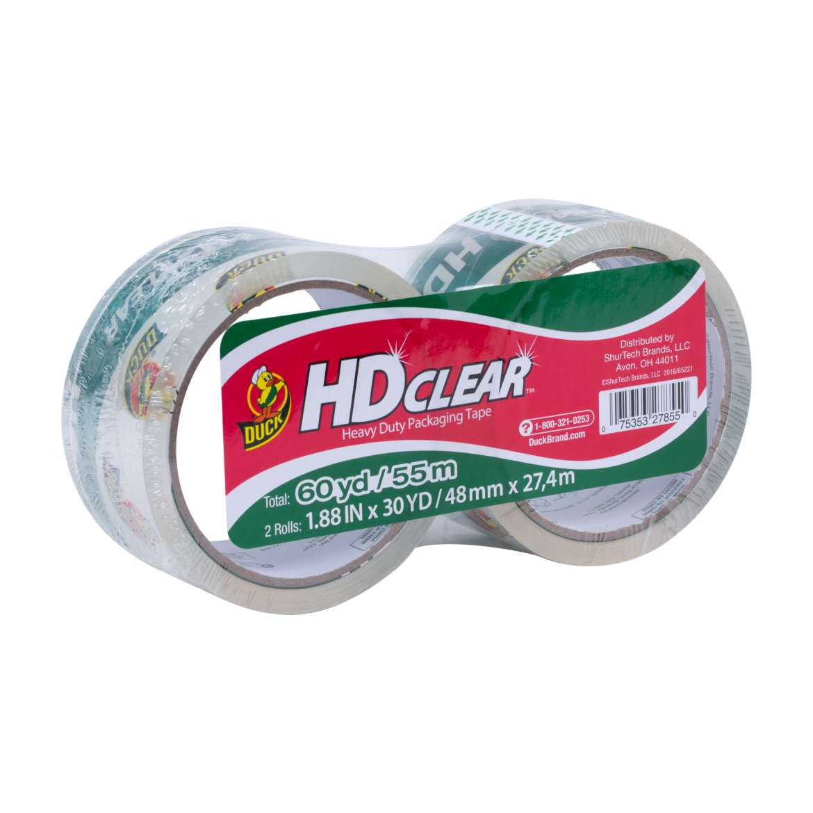 HD Clear™ Heavy Duty Packaging Tape - Clear, 2 pk, 1.88 in. x 30 yd. Image