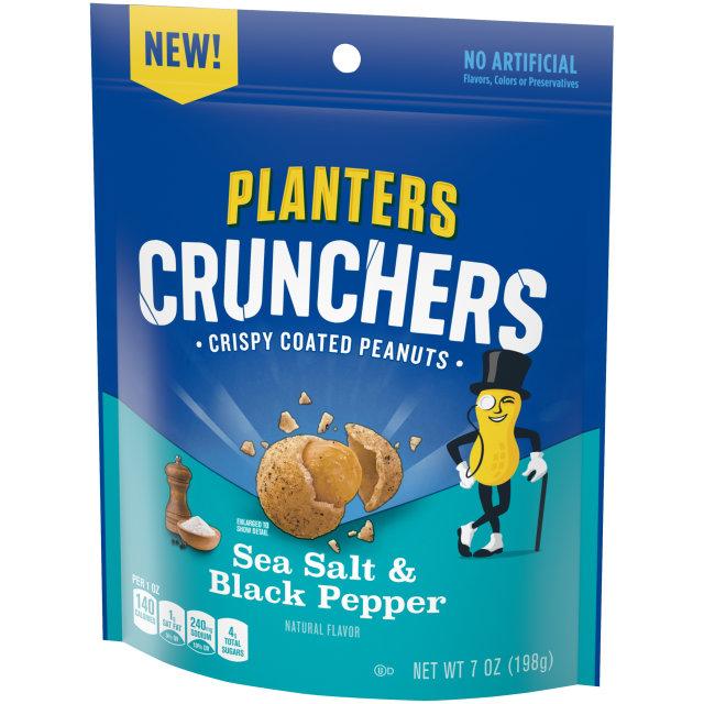 Planters Crunchers Snack Nuts Salt & Pepper 7 oz Bag