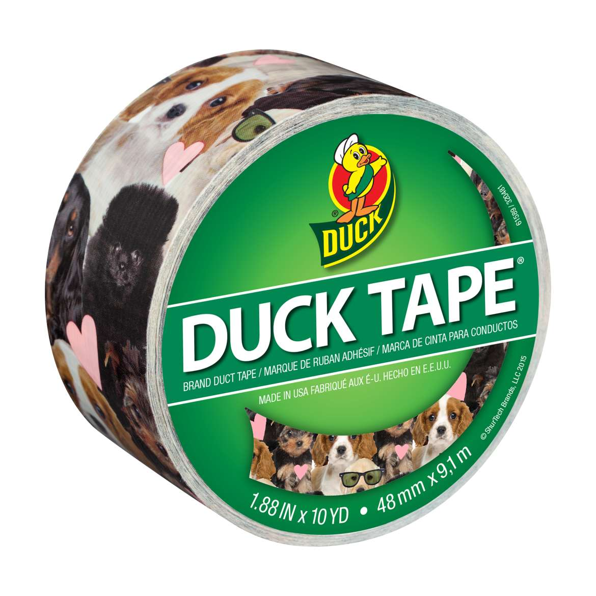 Printed Duck Tape® Brand Duct Tape - Puppy Potpourri, 1.88 in. x 10 yd. Image