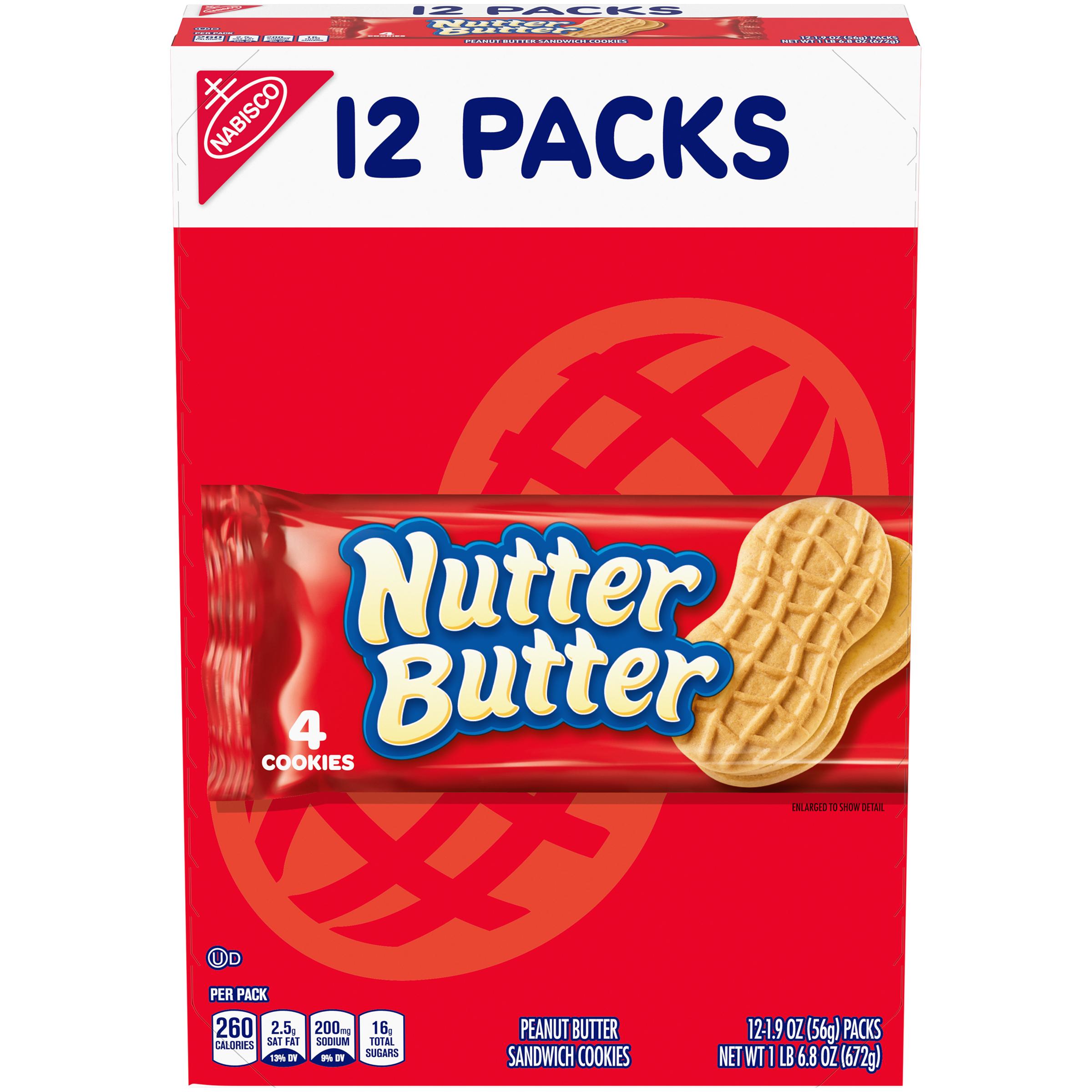 NUTTER BUTTER Supermix Lunchbox Cookies 22.8 oz
