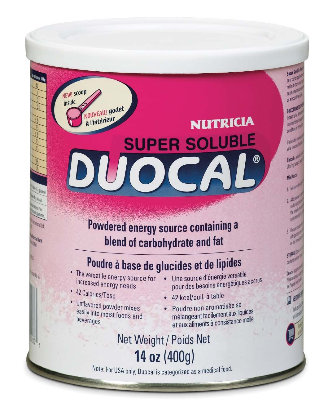 Duocal High Calorie Unflavored 14 oz. Can Powder, 118262 - Case of 6