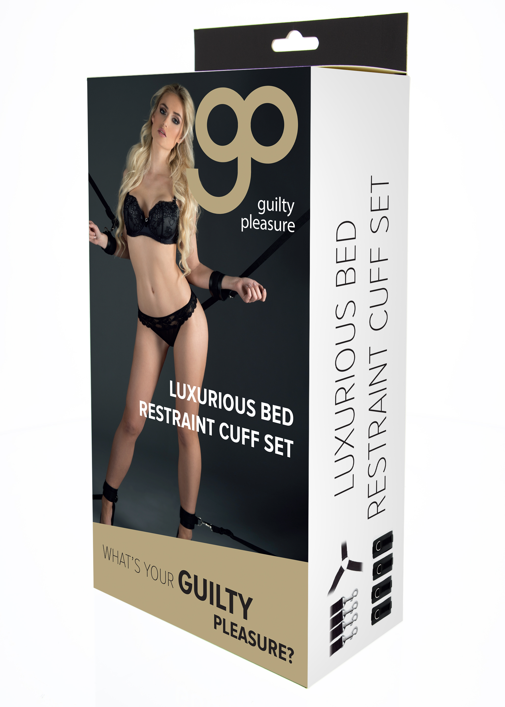 Guilty Pleasure - Luxurious Bed Restraint Cuff Set - Black