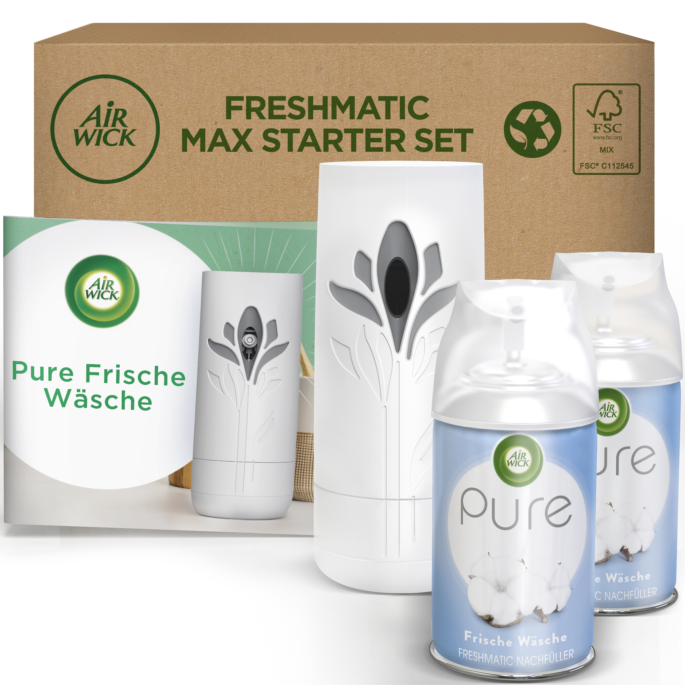 Air Wick Freshmatic Max eCom Starter-Set PURE Frische Wäsche