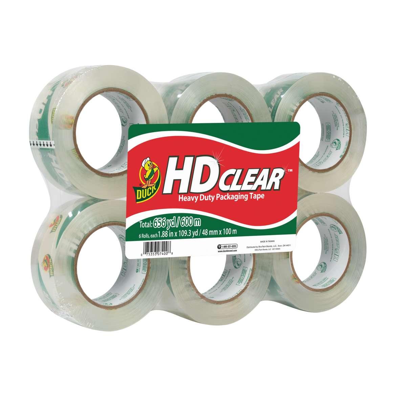 HD Clear™ Heavy Duty Packaging Tape - Clear, 6 pk, 1.88 in. x 109.3 yd. Image