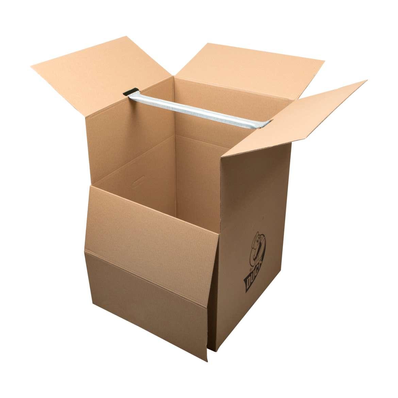 Duck® Brand Wardrobe Box - Brown, 24 in. x 24 in. x 34 in. Image