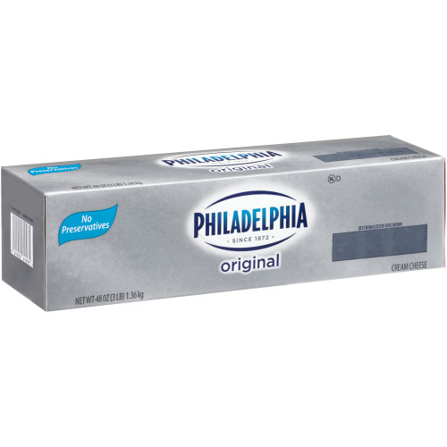 PHILADELPHIA Original Cream Cheese, 3 lb. Loaf (Pack of 6)