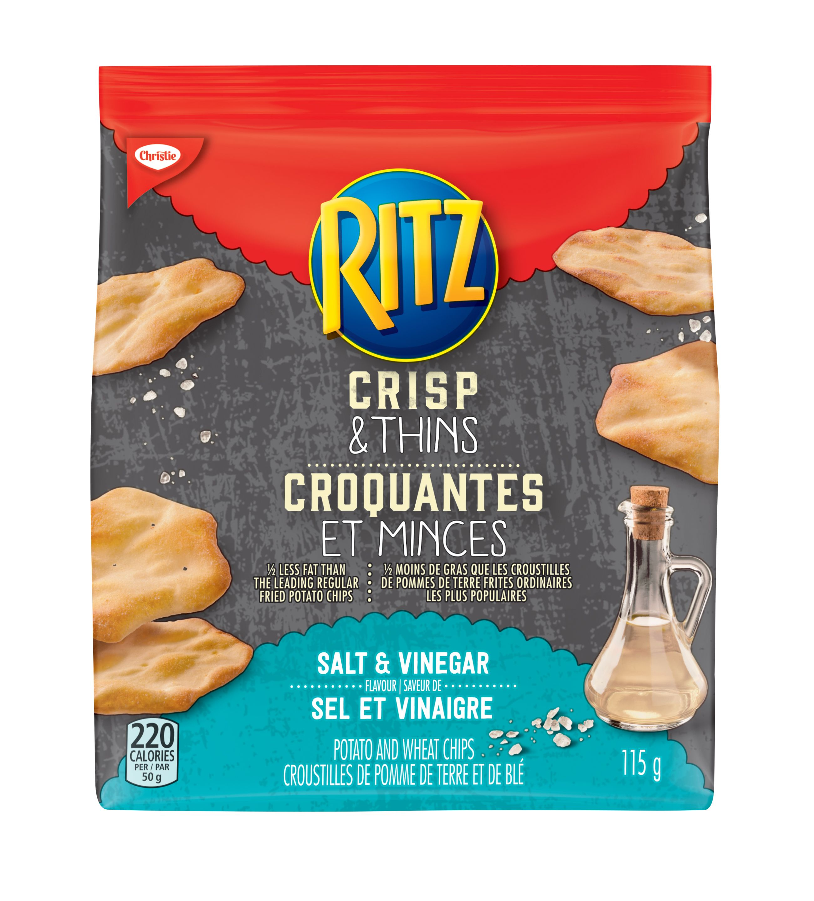 RITZ Crisp & Thin SALT AND VINEGAR 115 GRM