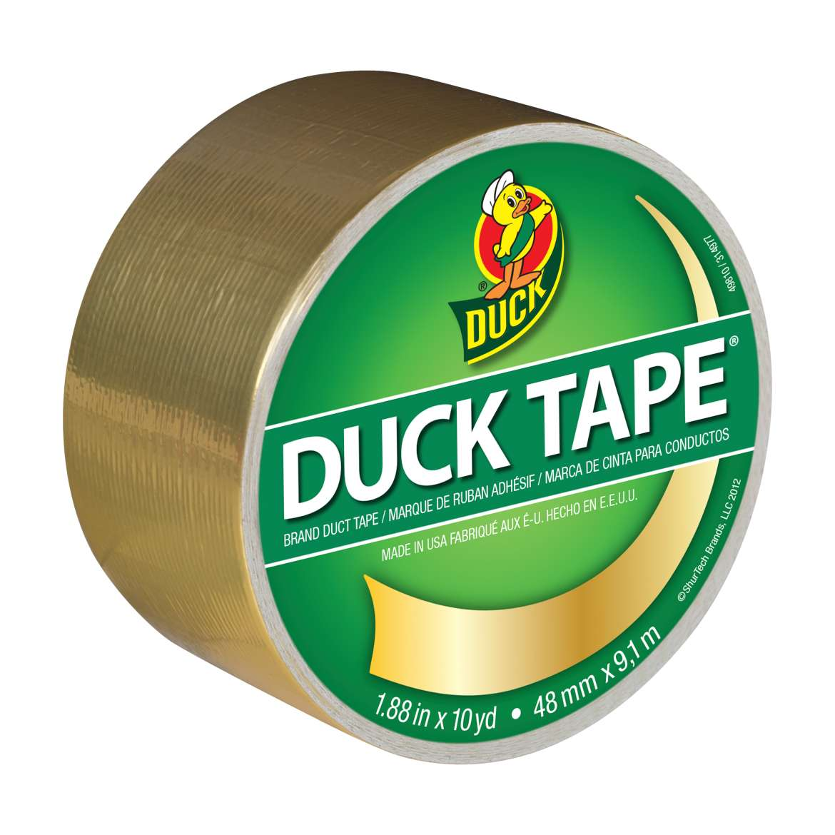 Color Duck Tape® Brand Duct Tape - Gold 1.88 in. x 10 yd. Image