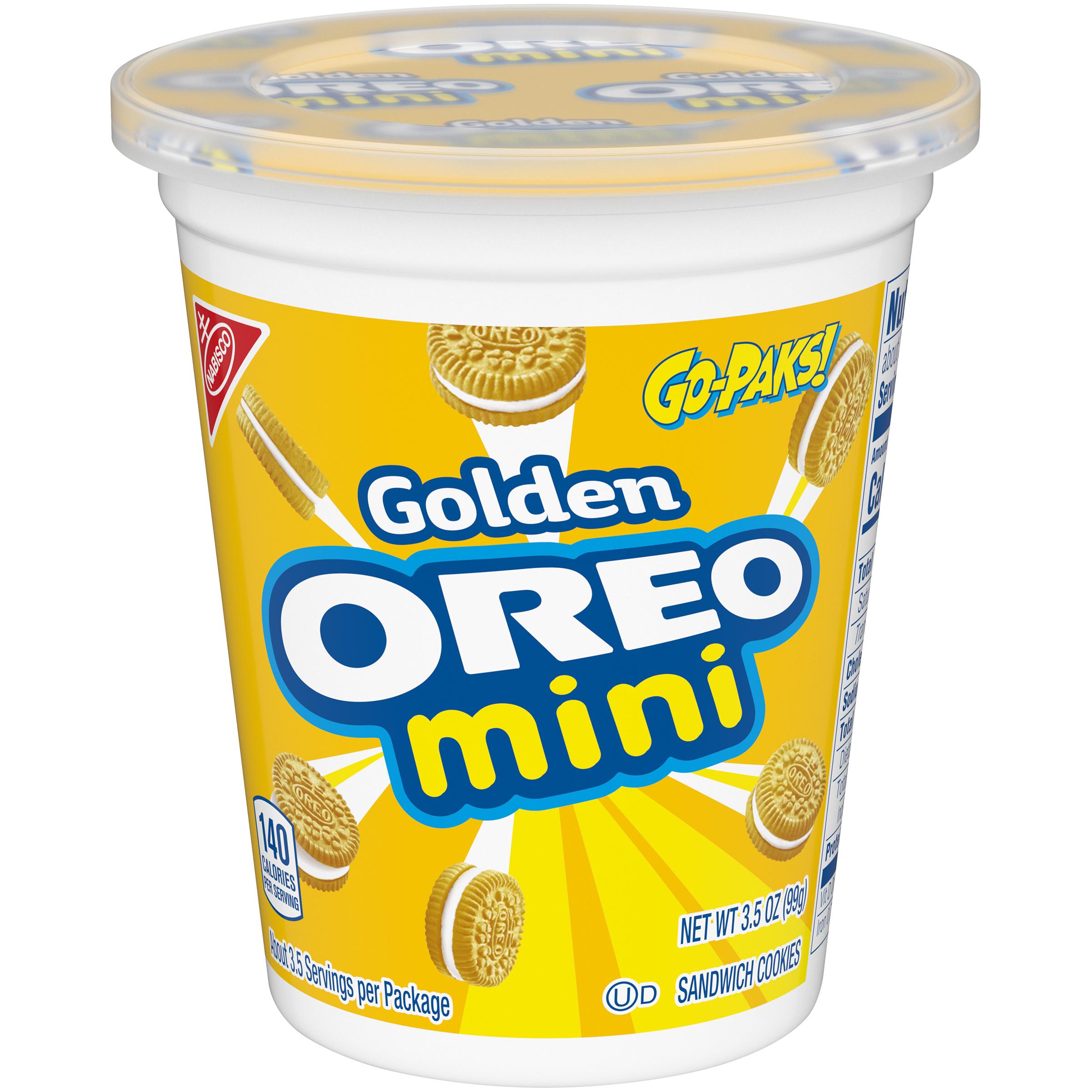 OREO Golden Oreo Mini Cookies Go Pak 3.5 oz