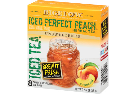 Perfect Peach Herbal Iced Tea - Case of 6 boxes - total of 48 teabags